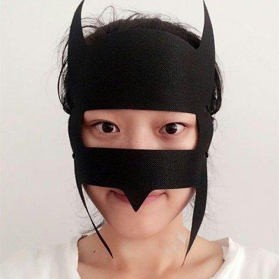 Jackie Batman shaped hygiene mask for VR.