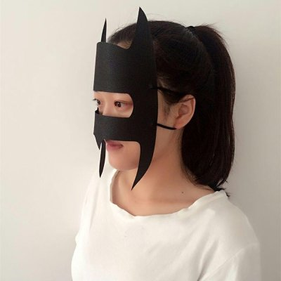 Jackie Hygiene Batman Mask Side View